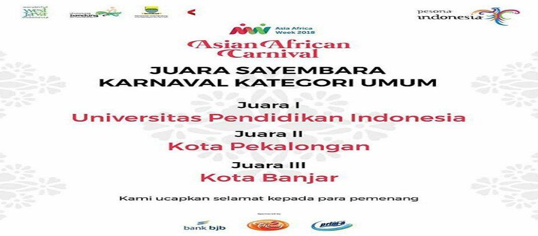 UPI JUARA I ASIAN AFRIKAN CARNIVAL WEEK 2018